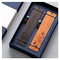 ブックマーク 絶妙なアウト中空木製ブックマーク、学生の子供と教師の読書ページマーカー用サンダルウッドロータスブックマーク かわいいブックマーク (Color : A)