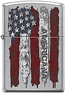 Zippo Custom Lighter Design US American Flag with Americana Inscribed Windproof Collectible Lighter - Cool Cigarette Lighter Case Made in USA Limited Edition & Rare