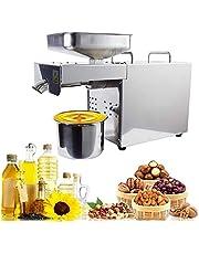 4YANG Oliepersmachine, oliepers van roestvrij staal in standaard kwaliteit met automatische koud-/warmpers, 500 W.