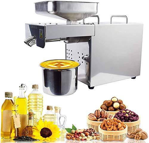 4YANG Ölpressenmaschine 500W Intelligente temperaturgesteuerte Kalt- / Heißpresse Automatische Ölabsaugung Organisches Öl Expeller Handelsübliche Edelstahl-Ölpresse