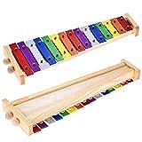 Immagine 2 btuty glockenspiel xilofono legno alluminio
