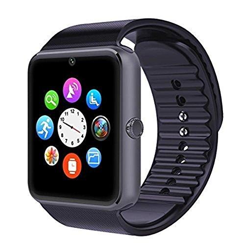 Austec Neue Bluetooth smart Watch GT08 für Apple iPhone, Android - Handy am Handgelenk tragen: ios unterstützen intelligente Uhr pk DZ09 GV18 SIM - Karte