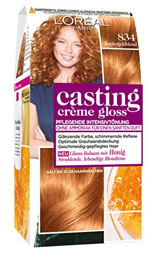 L'Oréal Paris Casting Crème Gloss Glanz-Reflex-Intensivtönung 834 in Kupfergoldblond