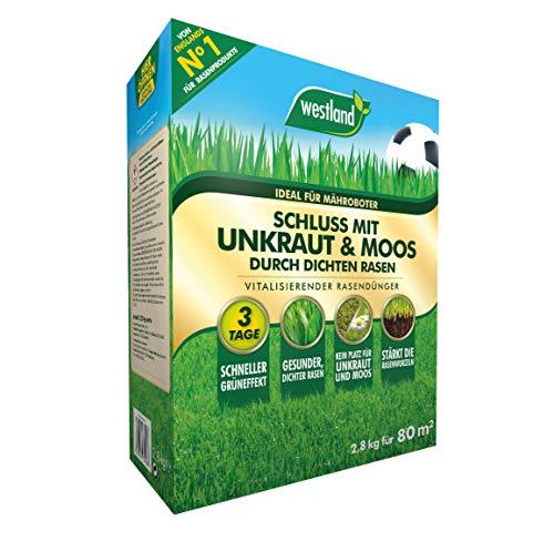 Westland Schluss mit Unkraut & Moos, Vitalisierender Rasendünger, 734787, 2.8 kg
