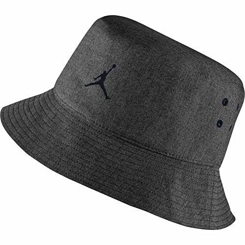 Nike Michael Jordan 23Lux Bucket Hat–Berretto per Uomo, Uomo, Michael Jordan 23 Lux Bucket Hat, Nero (Nero/Grigio Freddo), L/XL