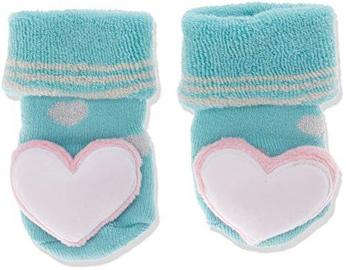 Sterntaler Sterntaler Baby-Mädchen Rasselsöckchen Socken, Blau (Eisblau 338), One Size (15/16)