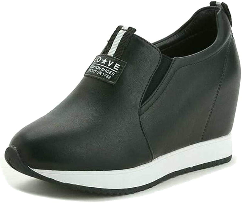 Btrada Women Hidden Heels Slip on Casual shoes Ladies Height Increasing Fashion Wedges Outdoor Sneakers