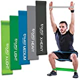 Aduro Sport Resistance Bands Set Exercise Workout Bands Loops 3 or 5 Resistance Levels Pack Set for Men Women Abs Leg