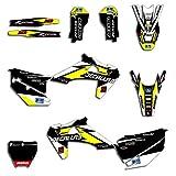 Motocross Personalizado Equipo gráficos calcomanías Pegatinas Kit para Husqvarna TC FC TX FX FX FS 2019 2020 TE FE 2020 2021 125 150 250 350 450 Decoración de Motos (Color : Blank)
