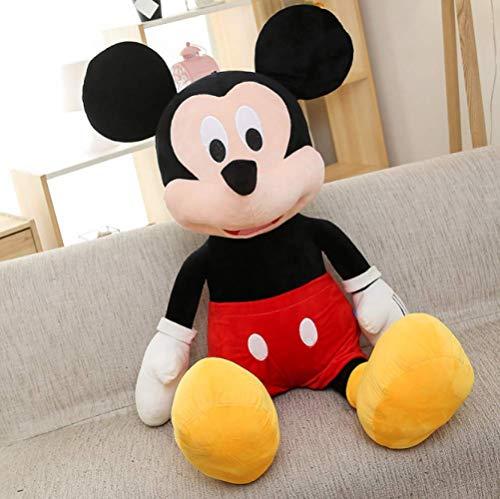 zhengboasd Juguetes Blandos, Mickey Minnie Mouse Peluches Cute Animal De Peluche De Dibujos Animados Pink Dolls Baby Soft Pillows Dolls Kids Gift 40cm Negro