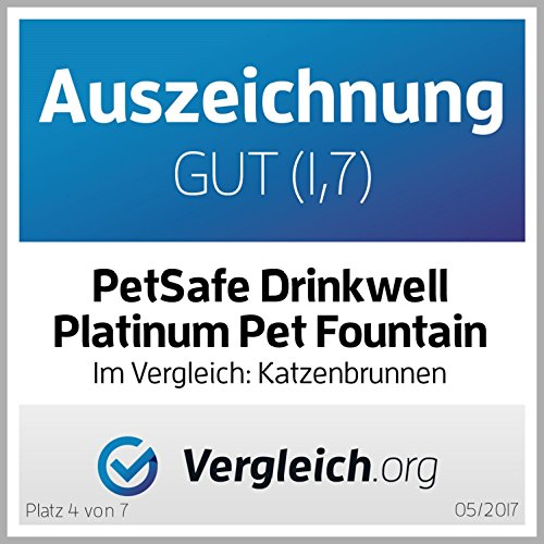 PetSafe D2-EU-45 Drinkwell Platinum Pet Fountain, 5 L, 27 x 26 x 41 cm - 5