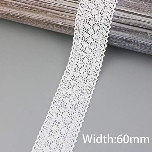 (5 meter/stuk) 60mm Zijden Net Kant Stof Linten Trim DIY Naaien Handgemaakte Ambachtelijke Materialen, Wit