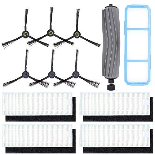 DingGreat Staubsauger Zubehör, Ersatzteile für Kehrroboter, für ILIFE A7 A9S Staubsauger Roboter, 1 Hauptbürste + 1 Primärfilter + 6 Seitenbürste + 4 Filter