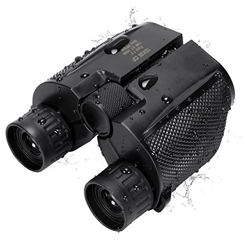 Anksono 10x25 Folding High Powered Binoculars With Weak Light Night Vision Clear Bird Watching Great for Outdoor Sports Games and Concerts, Black