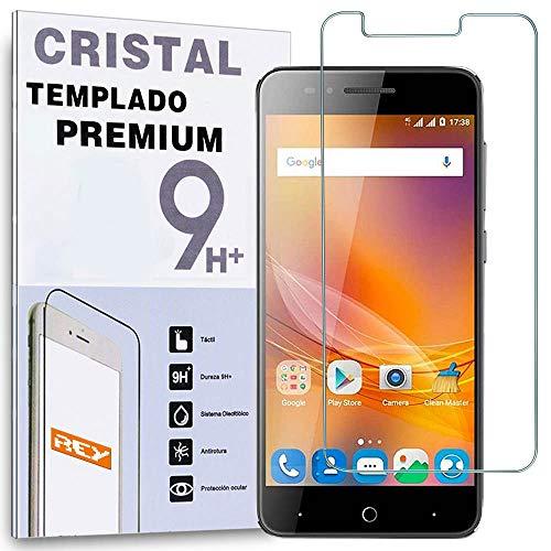 REY Protector de Pantalla para ZTE Blade A610 Plus Cristal Vidrio Templado...
