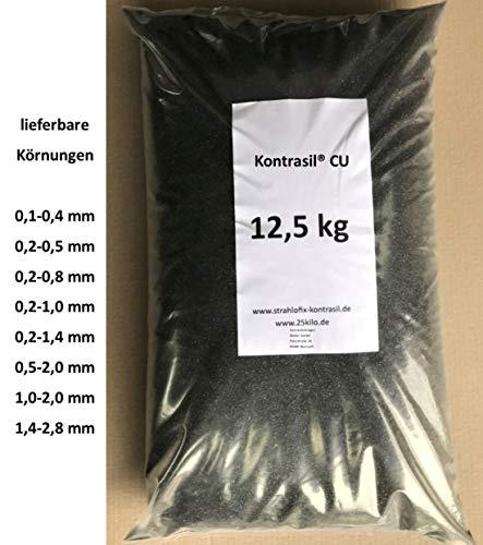 Kontrasil 12,5 kg Strahlmittel CU Strahlgut Sandstrahlen alle Körnungen (0,2-0,8 mm)