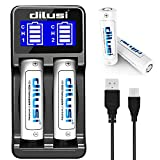 Dilusi P2 18650 Chargeur Li-ION/Ni-MH/Ni-CD Chargeur de Batterie AA AAA Piles avec...