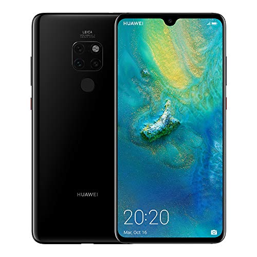 "Huawei Mate 20 - Pack de funda y smartphone de 6.53"" (Octa-Core Kirin 980, RAM de 4 GB, memoria de 128 GB, cámara de 20 MP, Android 9.0) Negro [Exclusivo Amazon]"