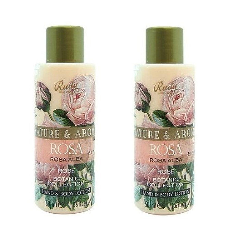 アクロバット楽しませる不器用(2個セット)RUDY Nature&Arome SERIES ルディ ナチュール&アロマ Mini Body lotion ミニボディローション ローズ