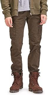 OCHENTA Mens Casual Tapered Flat-Front Pants N268