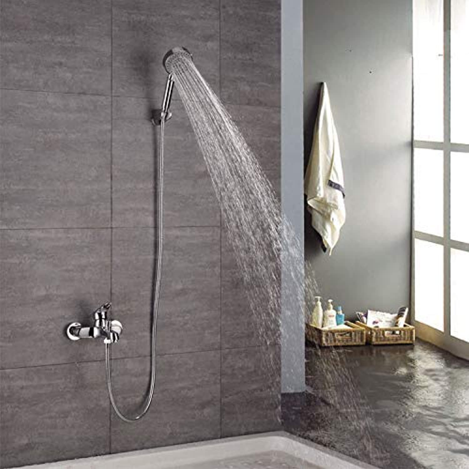 JINSH HOME Showers Shower, Simple Shower, Mixing Valve, Bath, Bathroom Shower, Copper Shower, Shower