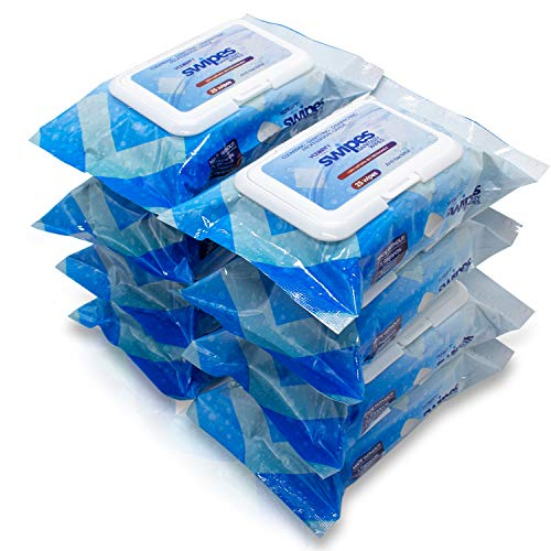 Vaxxen Labs SWIPES - 70% Isopropyl Alcohol Wipes - 8 Pack (200 Count)