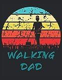 The Walking Dad - Cortacésped: Cuaderno | Notebook | A cuadros, 21,59x27,94 cm (8, 5'x11'), 120 páginas, color crema, cubierta mate