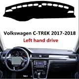 HCDSYSN 左ハンドル車のダッシュボードカバー、フォルクスワーゲンC TREK 2017 2018車のダッシュボードマット