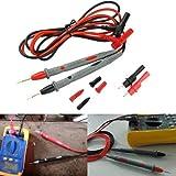 KCHEX 20A Probe Test Lead + Alligator Clips Agilent/Fluke/Ideal Clamp Cable Multimeter