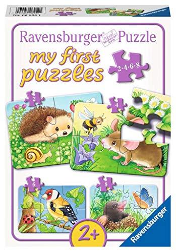 Ravensburger Kinderpuzzle 06952 - Süße Gartenbewohner - my first puzzles - 2,4,6,8 Teile