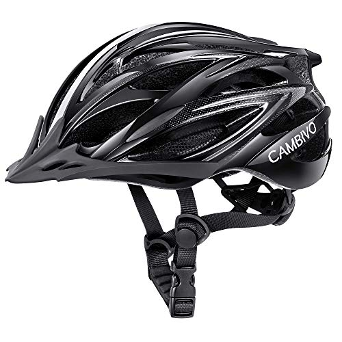 CAMBIVO Bike Helmet, Lightweight MTB Cycling Helmet, Adult Adjustable Bicycle Helmet for Men Women Youth with Visor & Reflective Strips