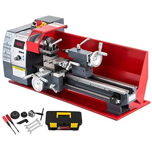 VEVOR Metalldrehmaschine 8X16 Zoll Präzisions-Minidrehmaschine mit variabler Drehzahl 50-2500 U/min 750W Metallfräsen