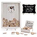Homish Wedding Guest Book Alternative Rustic Wedding Decorations for Reception Wedding Signs Antique White