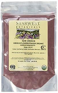 Starwest Botanicals Organic Hibiscus Flower Powder, 4 Ounces (B00ZQ61DCW) | Amazon price tracker / tracking, Amazon price history charts, Amazon price watches, Amazon price drop alerts