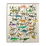 ALAZA Cute Shower Curtain Animal Bath Curtains for Bathroom Tub for Boy Girl Women Men (60x72inch, Dinosaur Alphabet)