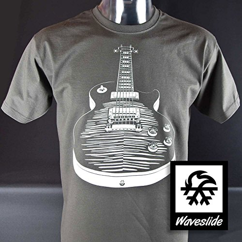 T-Shirt Gibson Les Paul Rock n Roll Gitarre Metall Illustration von Waveslide