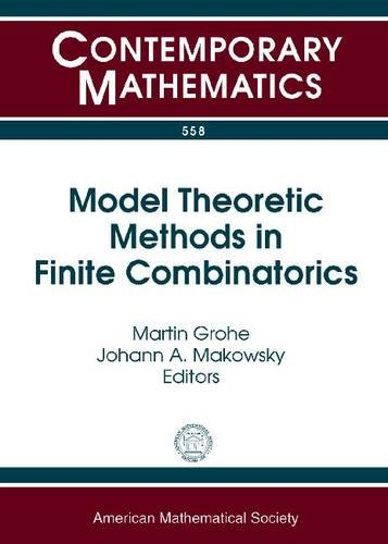 Model Theoretic Methods in Finite Combinatorics: Ams-asl Joint Special Session, January 5-8, 2009, Washington, Dc (Conte