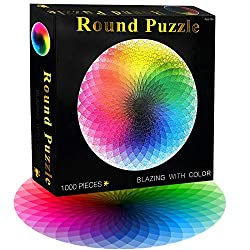 cheap FIGHTART puzzles for adults, 1000 elements, rainbow gradients, 2020, big round puzzles for adults and kids …