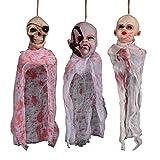 Amosfun - Adorno Colgante de Halloween para decoración de habitación Secreta de casa encantada