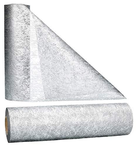 AmaCasa Vlies Tischläufer 30cm/25 Meter Tischband Hochzeit Kommunion (30cm, Silber)