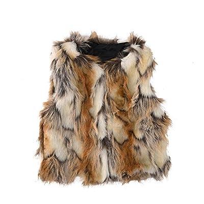 Per Baby Girl Faux Fur Vest Warm Sleeveless Jacket-yellow,S(1year)