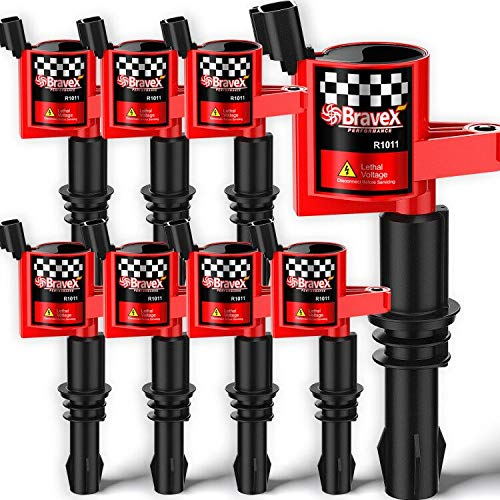 Bravex 8 Pack Straight Boot Ignition Coils 15% More Energy F-150 for Ford...