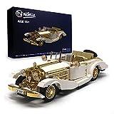 Nifeliz Retro Sports car K500 MOC Building Blocks and Construction Toy, Adult Collectible Model Cars Set to Build, 1:14 Scale Retro Car Model,NEW2021 (868 Pcs)