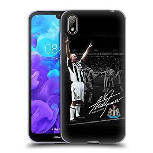 Head Case Designs Officiellt Licensierade Newcastle United FC NUFC Shearer Photo Signed Retro Badge Kollektion Mjuk Gel Fodral Kompatibelt med Huawei Y5 (2019)