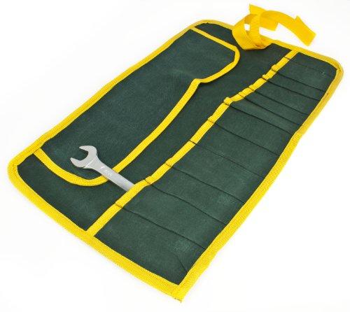 Toolzone - Porta attrezzi arrotolabile di tela, 12 tasche