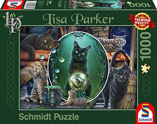 Schmidt Spiele 59665 Lisa Parker, Magische Katzen, 1000 Teile Puzzle, bunt