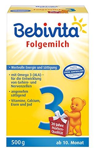 Bebivita 3 Folgemilch, ab 10 Monat, 500 g