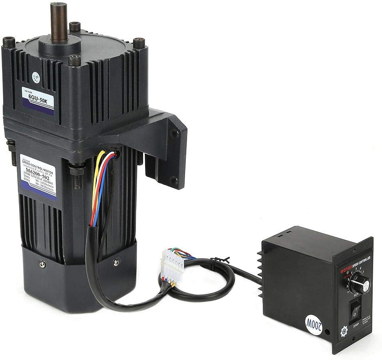 Untersetzungsmotor, AC 220V Untersetzungsmotor CW CCW 200W M6200-502 4Poles with Gearbox Governor(Untersetzungsverhltnis 50k)