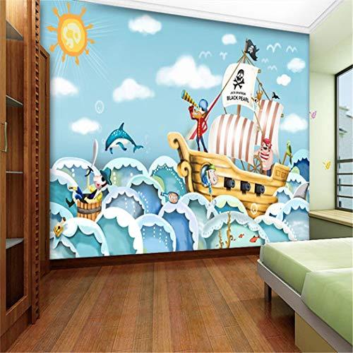 Tapeten Pirat Piratenschiff Seerover Große Fototapete Wandbild Kinder Schlafzimmer Karton Wandbilder 3D Wallpapers