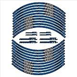 Pegatinas de neumáticos de la Motocicleta Decoración Reflectante de la Rueda Interna calcomanías para BMW K1600GTL (Color : 3)